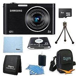Samsung 8 GB Bundle DV300F 16 MP 5X Wi-Fi Digital Camera - Black in Cameras & Photo, Digital Cameras | eBay