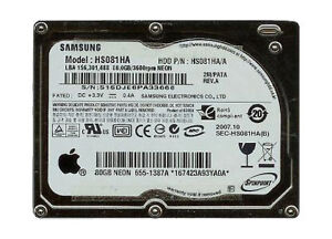 "Samsung 80 GB,Internal,3600 RPM,1.8"" (HS..."