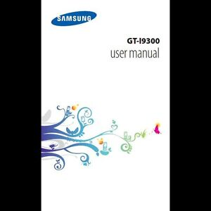 Samsung Galaxy S3 Instruction Manual / User Guide on CD Free UK P&P