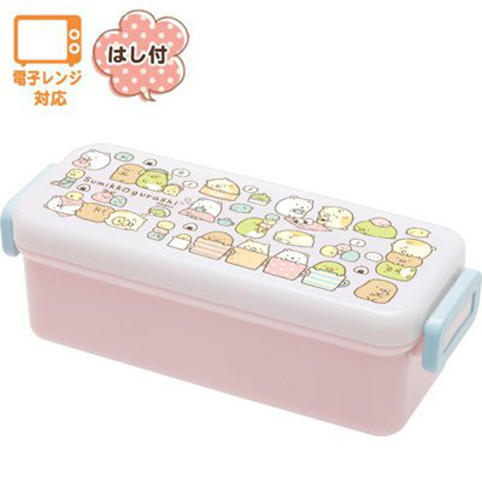 san x sumikko gurashi lunch food container bento box with chopsticks 540ml japan ebay. Black Bedroom Furniture Sets. Home Design Ideas
