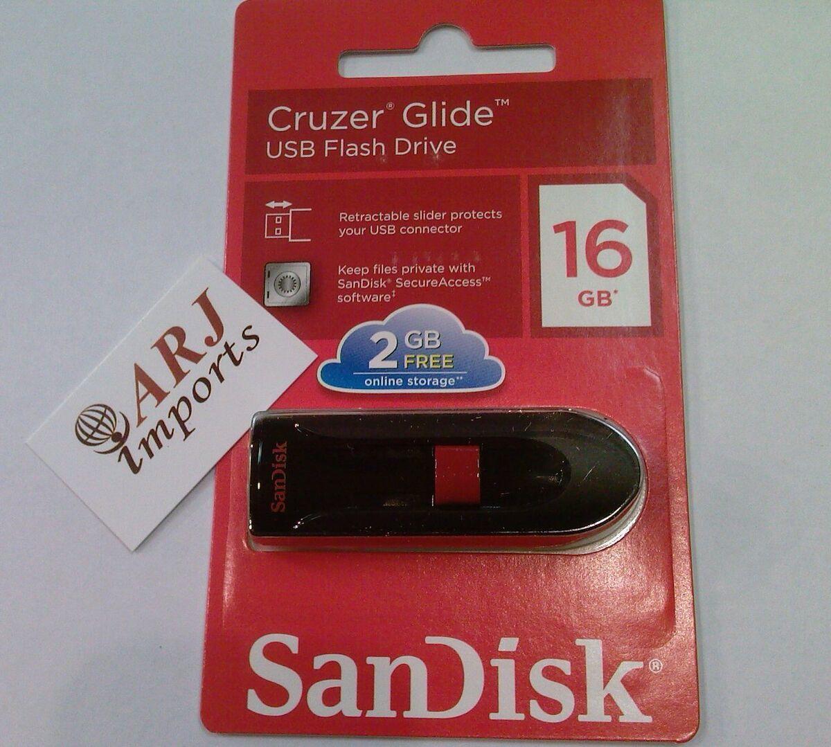 SanDisk Cruzer Fit Blade Glide USB Flash Drive Pen Drive 16GB 32 GB 64GB Stick