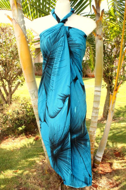 Sarong Hawaii Hawaiian Beach Cover Up Wrap Dress Teal