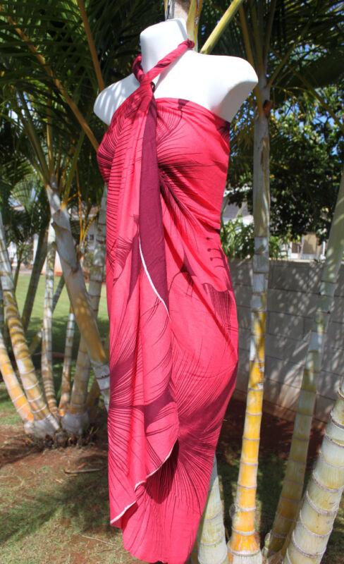 Hawaii Pareo Sarong Hawaiian Wrap Cruise Beach Dress
