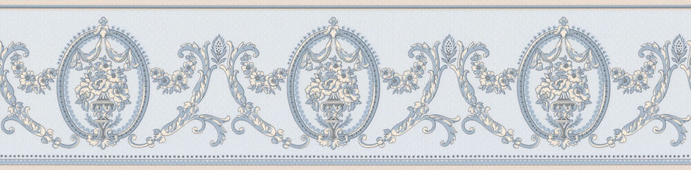 Satin Borte Chateau 8677-28  Barock  Blau - NEU
