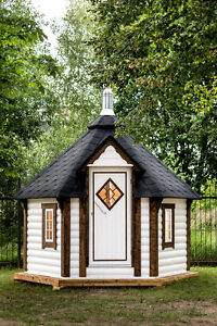 saunakota sauna gartensauna au ensauna mit holzofen ebay. Black Bedroom Furniture Sets. Home Design Ideas