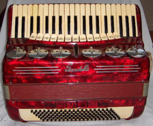 Scandalli Brevetto Vintage Professional Piano Accordion-Beautiful Sound-Italian in Musical Instruments & Gear, Accordion & Concertina | eBay