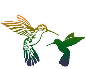 schablone 2 kolibris tiere vogel v gel fl gel pinky style ebay. Black Bedroom Furniture Sets. Home Design Ideas