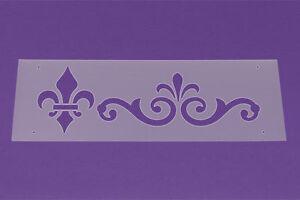 schablone xl bord re fleur de lys ornament franz sische lilie lb28 ebay. Black Bedroom Furniture Sets. Home Design Ideas