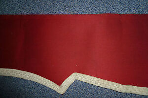 Schabracke querbehang gardine borde rot aus verst rktem - Schabracke gardine ...