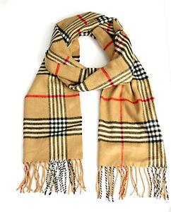 schal scarf beige kariert karo sehr weich 30cmx160cm. Black Bedroom Furniture Sets. Home Design Ideas