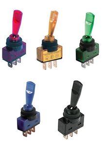 Schalter-Toggle-Switch-Wippschalter-Hebelschalter-KFZ-Kippschalter-12V-Leuchte