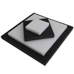 schaumstoff zuschnitt rg25 nach wahl in schwarz oder wei ab 1cm dicke ebay. Black Bedroom Furniture Sets. Home Design Ideas
