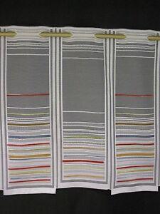 scheibengardine gardine bistrogardine modern streifen bunt. Black Bedroom Furniture Sets. Home Design Ideas