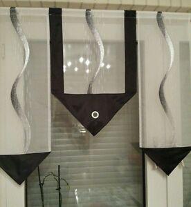 scheibengardine silber schwarz ebay. Black Bedroom Furniture Sets. Home Design Ideas