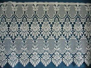 scheibengardine wei 48 cm hoch 88 cm lang breit plauener spitze polyester ebay. Black Bedroom Furniture Sets. Home Design Ideas