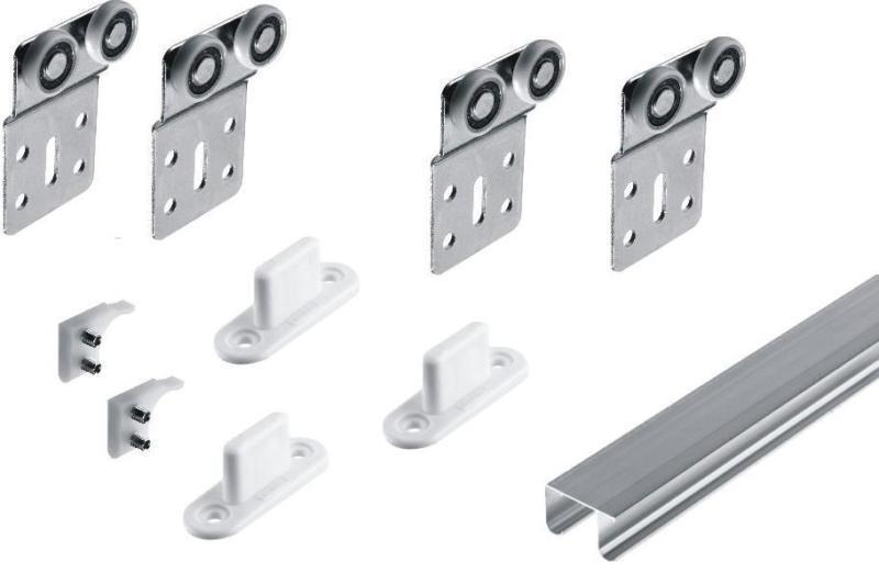 Schiebetürbeschlag Unten Schiebetür Beschläge Für 2 Türen Bis 50 Kg | EBay
