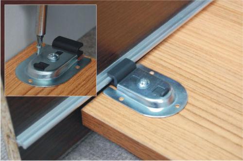 schiebet rbeschlag f r 3 t ren bis 50 kg ebay. Black Bedroom Furniture Sets. Home Design Ideas
