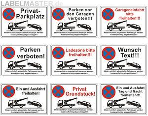 Schilder-Parkverbot-Halteverbot-Parken-verboten-Privatparkplatz-3mm-ALU-Verbund
