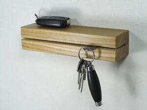 schl sselhalter schl sselbrett schl sselleiste schl ssel eiche holz ablage ebay. Black Bedroom Furniture Sets. Home Design Ideas