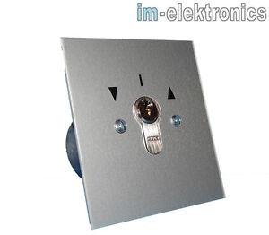 Schluesseltaster-Schluesselschalter-UP-Unterputz-geba-MSR-1-2T-Tor-Antrieb-Motor