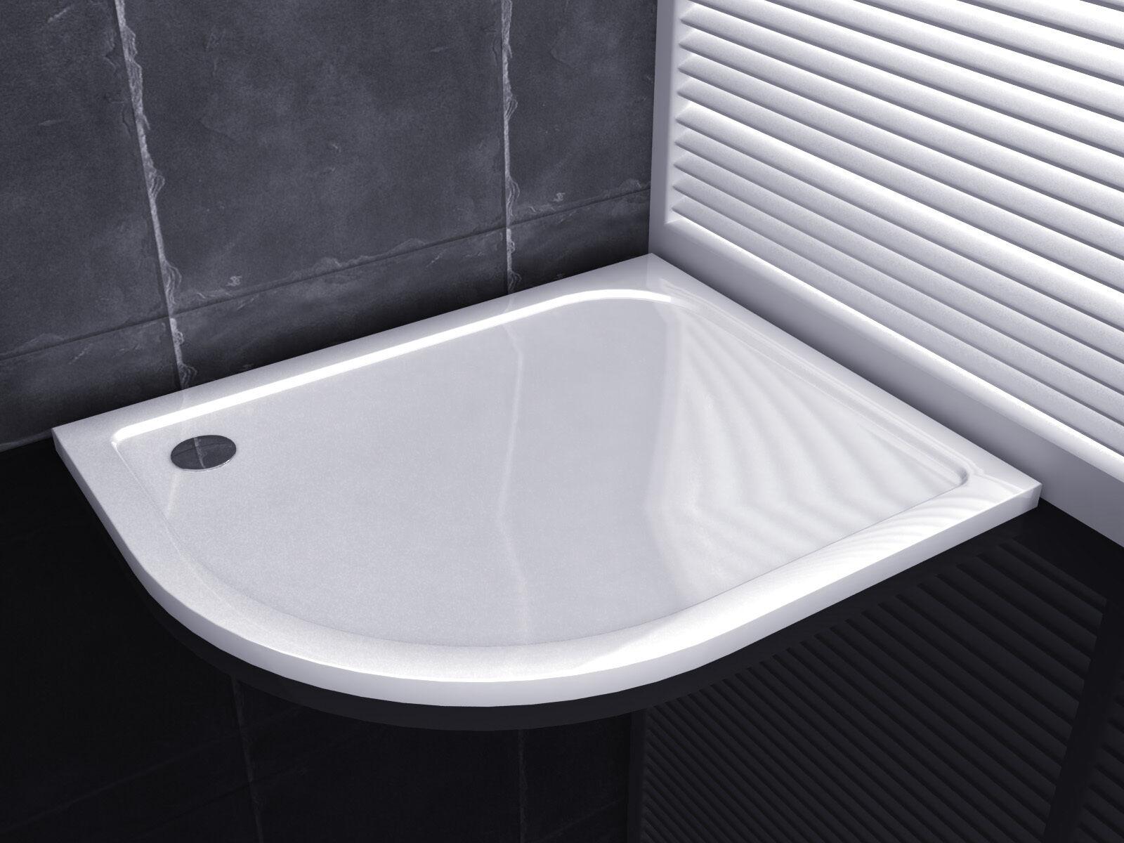 120x90 duschkabine duschabtrennung runddusche viertelkreis faltt r duschtasse l ebay. Black Bedroom Furniture Sets. Home Design Ideas