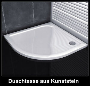 schmallinie runddusche duschtasse aus kunststein f r duschkabine duschabtrennung ebay. Black Bedroom Furniture Sets. Home Design Ideas