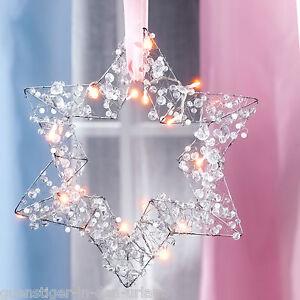 sch ner lichtstern stern perlen fensterdeko deko weihnachten weihnachtsdeko ebay. Black Bedroom Furniture Sets. Home Design Ideas