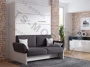 schrankbett wandbett klappbett sofa wbs 1 soft 160 x. Black Bedroom Furniture Sets. Home Design Ideas