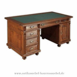 schreibtisch arbeitstisch b ro tisch holz massiv landhaus m bel gr nderzeit ebay. Black Bedroom Furniture Sets. Home Design Ideas