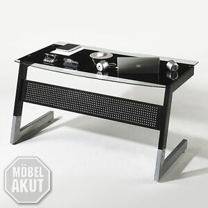 schreibtisch roby b rotisch computertisch in glas metall. Black Bedroom Furniture Sets. Home Design Ideas