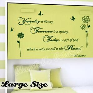 schriftzug sch nes zitat englisch wandsticker wandbild dekoration wandtattoo ebay. Black Bedroom Furniture Sets. Home Design Ideas