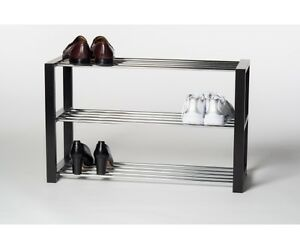 schuhregal schuhablage schuhschrank regal in schwarz ca 80 x 50 x 30 cm ebay. Black Bedroom Furniture Sets. Home Design Ideas