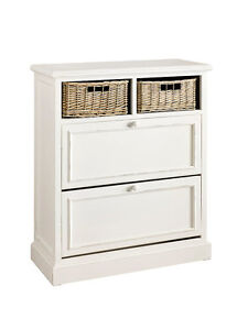 schuhschrank schuhkommode kommode weiss landhaus shabby chic neu ebay. Black Bedroom Furniture Sets. Home Design Ideas