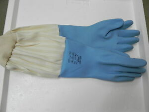 Schutz-Handschuhe-Naturlatex-blau-Gr-8-Imker-Imkerei-Schutzhandschuhe-Gummi