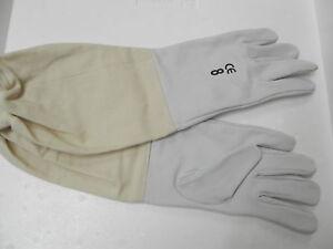 Schutz-Handschuhe-weiches-Leder-Gr-5-Imker-Imkerei-bee-Schutzhandschuhe