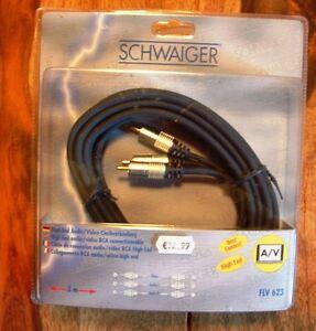 Schwaiger High End Cinch Kabel Audio Anschlusskabel 6 Stecker Stereo vergoldet - <span itemprop=availableAtOrFrom>Salz, Deutschland</span> - Schwaiger High End Cinch Kabel Audio Anschlusskabel 6 Stecker Stereo vergoldet - Salz, Deutschland