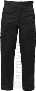Schwarz-Taktische-9-Taschen-Ems-Uniform-Apparel-Emt-Hose