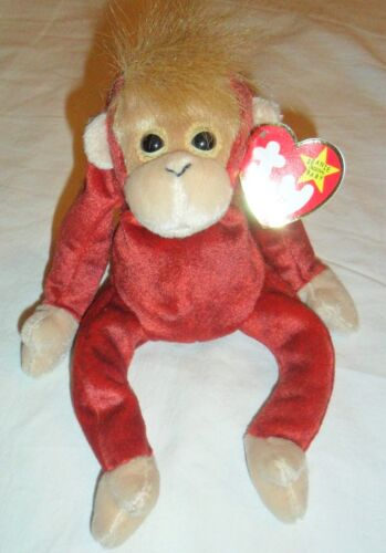 Schweetheart Ty Beanie Baby Monkey Orangutan Plush 1999 Bean Bag in Toys & Hobbies, Beanbag Plush, Ty | eBay