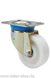 Schwerlastrollen-Lenkrolle-125mm-600kg-Rolle-Polyamidrad-mit-Kugellager