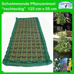 Schwimmende pflanzeninsel rechteck 125x55 pflanzinsel for Koi teich pflanzen