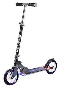 Scooter-Hudora-Roller-Big-Wheel-205-mit-Licht-Cityroller-XXL