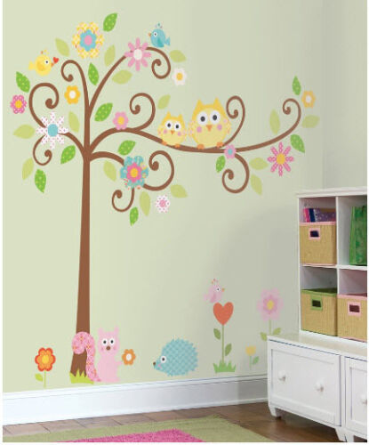 Scroll Tree Wall Decal Art Stickers Nursery Decor by RoomMates in Home & Garden, Kids & Teens at Home, Bedroom, Playroom & Dorm Decor | eBay
