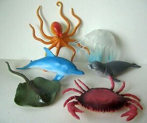 Sea-Creature-Toy-Animal-Figures-ELC-comparable-Plastic-Dolphin-6-pack-NEW-ebay