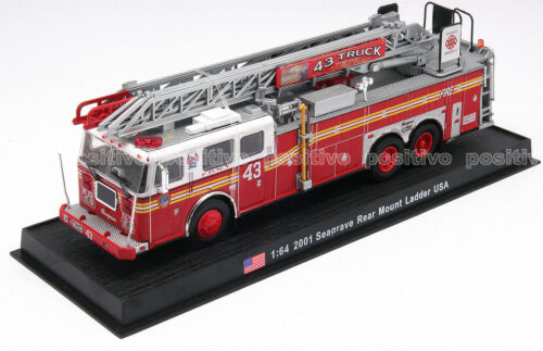 Seagrave Rear Mount Ladder - 2001 DieCast Fire Truck USA gi2 in Toys & Hobbies, Diecast & Toy Vehicles, Cars, Trucks & Vans | eBay