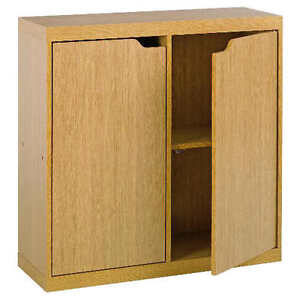 Seattle 2 door storage cabinet unit light oak effect c1gb for Door 00 seatac