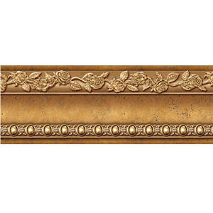 self adhesive antique gold wall moulding print border