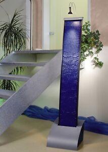Seliger wasserwand aquaduct blau zimmerbrunnen modern angenehmes raumklima ebay - Zimmerbrunnen modern ...