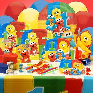 Birthday Party Supplies On Sesame Street Elmo 1st You Pick Tablecover