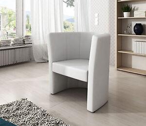 sessel clubsessel loungesessel cocktailsessel b rosessel kunstleder wei ebay. Black Bedroom Furniture Sets. Home Design Ideas