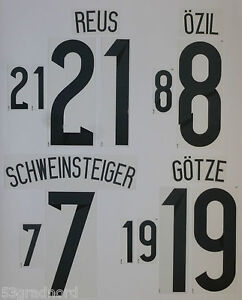 set flock nameset home trikot deutschland jersey germany wm 2014 black ebay. Black Bedroom Furniture Sets. Home Design Ideas